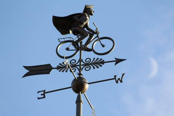 Weather vane at Manchester College, Oxford. Credit: Rafael H M Pereira