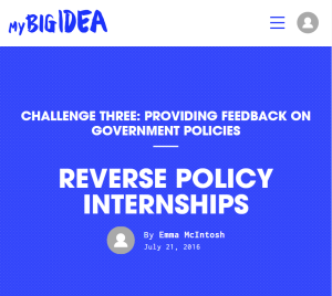 reverse policy internships