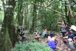 Jean-Yves sharing his incredible knowledge about Moorea's forests